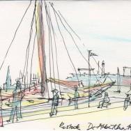 De Albertha im Stadthafen zur HanseSail